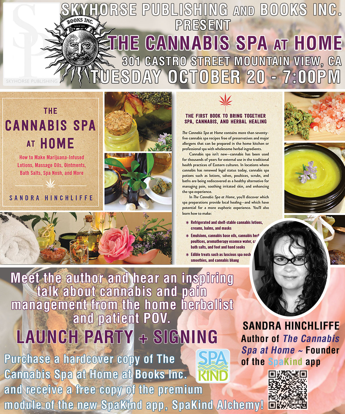 Save The Date! ~ The Cannabis Spa at Home ~ Book Launch Party October 20!